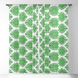 Monstera Leaf Tropical Vegetation Pattern Sheer Curtain