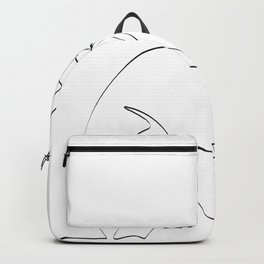 Couple continuous line draw Backpack