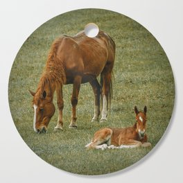 Horse And Foal Cutting Board