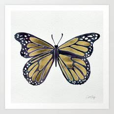 Gold Butterfly Art Print