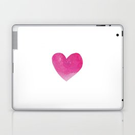 Minimalist Watercolour heart- hot pink #heart #society6 Laptop & iPad Skin