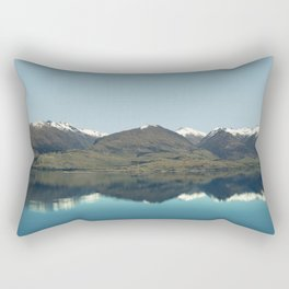 Blue reflections of mountains Rectangular Pillow