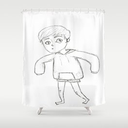 Tip-Toeing Shower Curtain