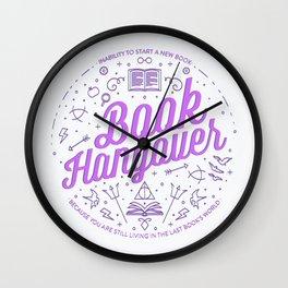 Book Hangover (Purple) Wall Clock