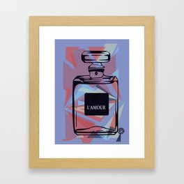L'AMOUR Pastel Blue Framed Art Print