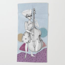 I bass play a song for you Beach Towel