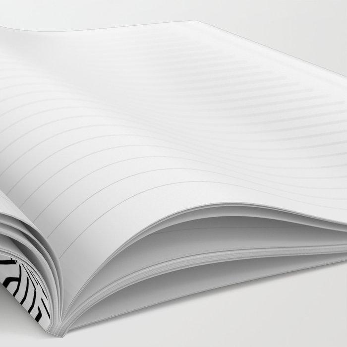 Minimalist black / White geometric Notebook