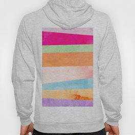 Modern Abstract Rainbow Watercolor Stripes Pattern Hoody