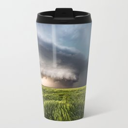 Leoti's Masterpiece - Incredible Storm in Western Kansas Travel Mug