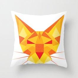 Geometricat Throw Pillow
