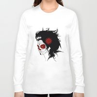calavera Long Sleeve T-shirts featuring Calavera by Griboedova Nat