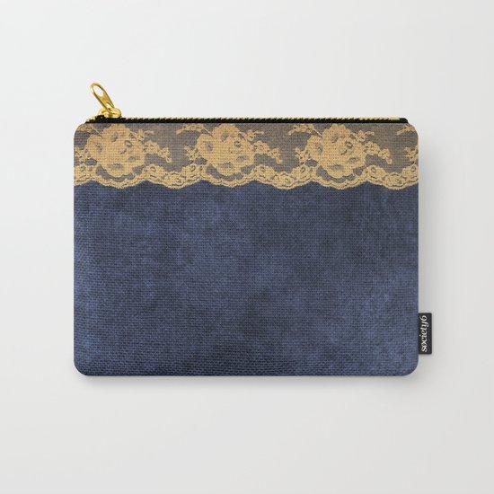 Blue Lace Velvet 02 Carry-All Pouch