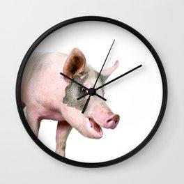 Laughing Pig Wall Clock