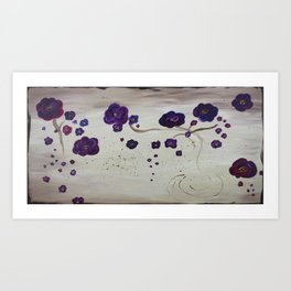 Purple Lilies Art Print