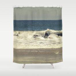 Indigo Blue Ocean Shower Curtain