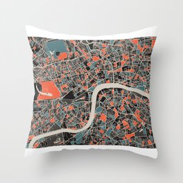London Multicoloured Print Throw Pillow