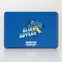 monster hunter iPad Cases featuring Monster Hunter All Stars - Blue Rippers by Bleached ink