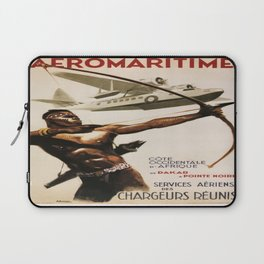 Vintage poster - Aeromaritime Laptop Sleeve