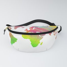 World Map - Watercolor 9 Fanny Pack