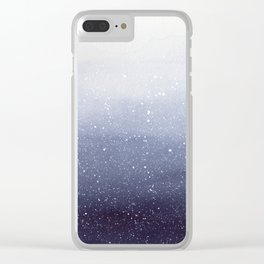 Falling Snow Clear iPhone Case