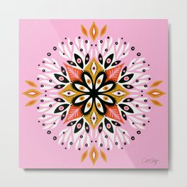 Gazing Mandala – Pink Palette Metal Print