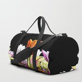 Tulips (black background) Duffle Bag