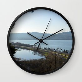 Overlooking the Gorge Wall Clock