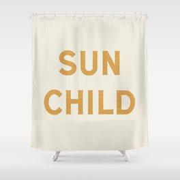 Sun child Shower Curtain
