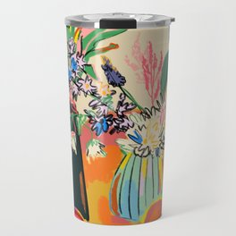 TEA AND FLOWERS AT HOME Travel Mug