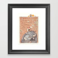 The year of OX  Framed Art Print