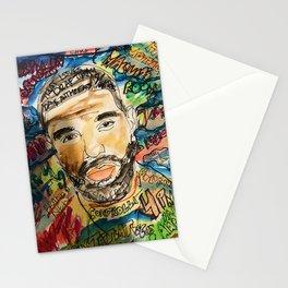 ovo,drizzzy,poster,wall art,dope,toronto,graffiti,street art,fan art,music,gift,rap,hiphop,rapper Stationery Cards
