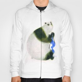 """Un panda tricote..."" Book cover Hoody"