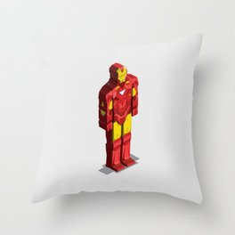 Ironman - Isometric Heroes Throw Pillow