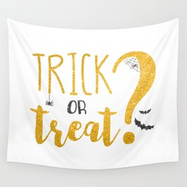 Trick Or Treat? | Glitter Wall Tapestry
