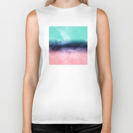 Modern watercolor abstract paint Biker Tank
