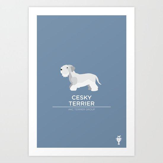 Cesky Terrier Art Print