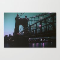 cincinnati Canvas Prints featuring Cincinnati by The Violet Noir