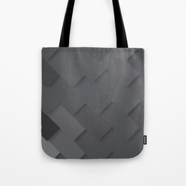 Grey/gray pattern, layered like shingles, tiles or those paint swatches you just cannot choose from! Tote Bag