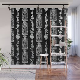 The Hierophant - A Tarot Floral Pattern Wall Mural