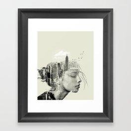 Reflection, New York City Framed Art Print