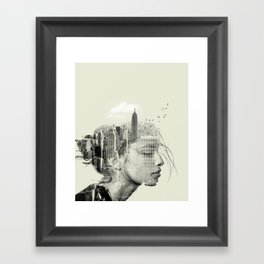 Reflection, New York City Framed Art Print