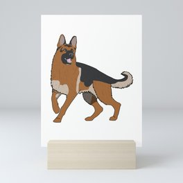 German Shepherd Mini Art Print