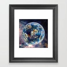 Cosmic Tree Framed Art Print