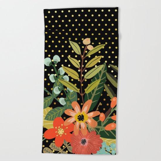 Flowers Bouquet #9 Beach Towel