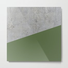 Concrete and kale color Metal Print