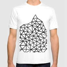 Seg Mountain White Mens Fitted Tee SMALL