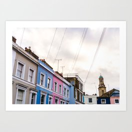 Dreamy Sky over Notting Hill, London Art Print