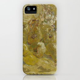 Quinces, Lemons, Pears and Grapes iPhone Case