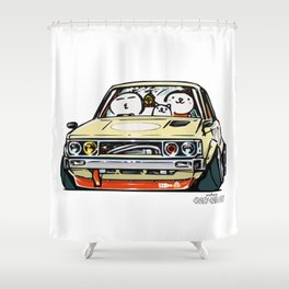Crazy Car Art 0148 Shower Curtain