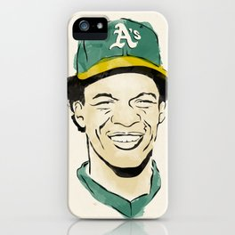 """Rickey """"The Man of Steal"""" Henderson iPhone Case"""